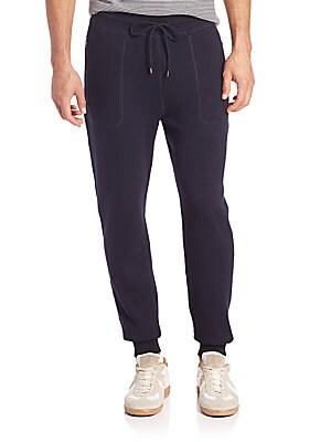 michael kors male plaited waffleknit wool cotton pants