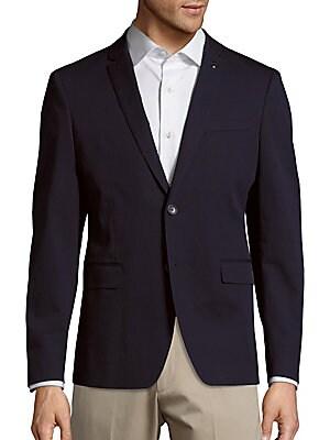 michael kors male twobutton cottonblend sportcoat
