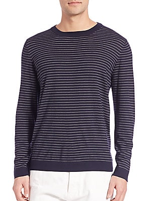 Striped Wool & Cashmere Sweater