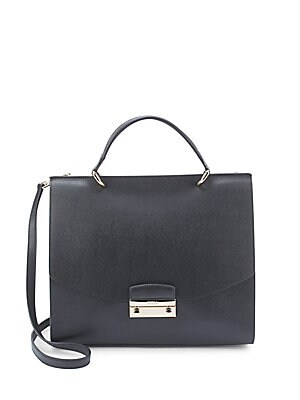 Julia Square Leather Handbag