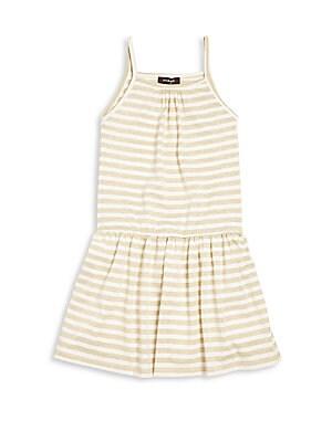 Little Girl's & Girl's Striped Sleeveless Dress