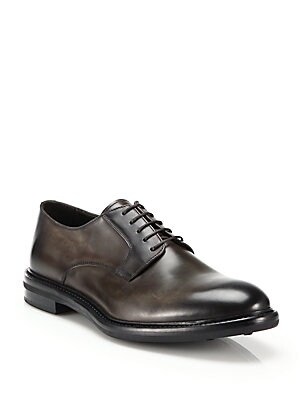 Raul Burnished Leather Derby Shoes