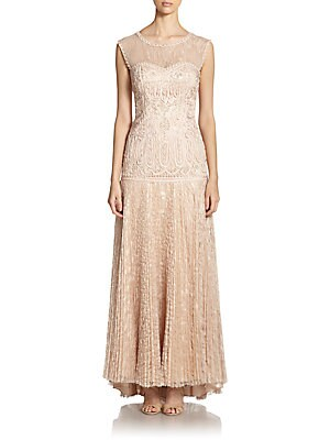 Soutache Embroidered Gown