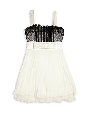 Girl's Lace-Trimmed Dress