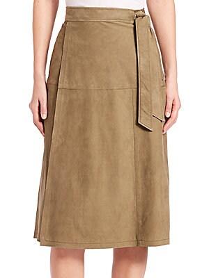 Le Suede Wrap Skirt