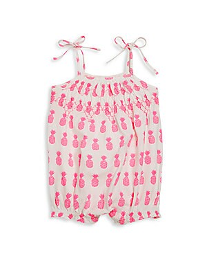 Baby's Printed Tie-Up Romper