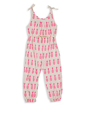 Baby's, Little Girl's & Girl's Pima Cotton Drawstring Romper