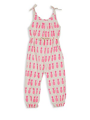 Baby's, Toddler's & Little Girl's Pima Cotton Drawstring Romper