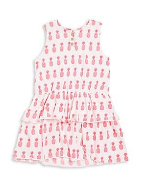 Toddler's & Little Girl's Ruffle-Hem Dress