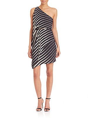 One-Shoulder Striped Dress