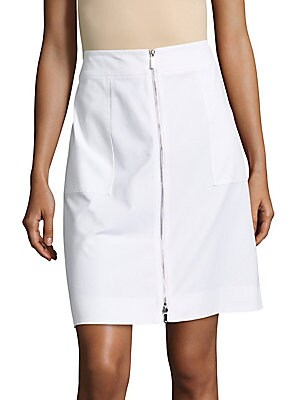 Solid Cotton-Blend Skirt