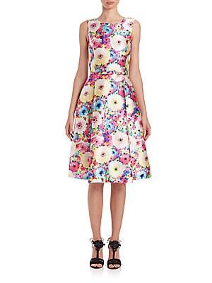 Floral-Print Fit-&-Flare Dress