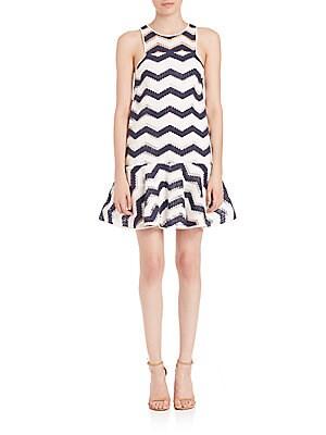 Jillian Chevron Jacquard Dress