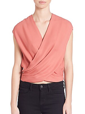 Lee Silk Crossover Blouse