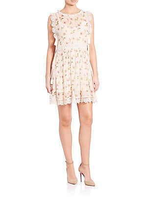 Lace-Trimmed Boxy Dress