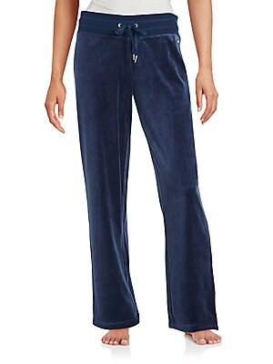 Velour Cotton Blend Pants