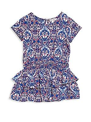 Toddler's & Little Gir's Tiered Drop-Waist Dress