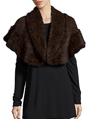 Natural Mink Shoulder Wrap
