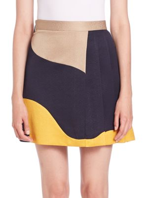 Swirl-Print Mini Skirt MSGM