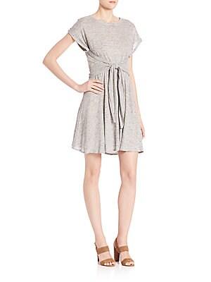Linen Jersey Wrap Dress