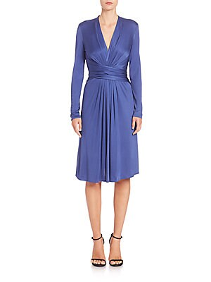 Silk Jersey Wrap Dress