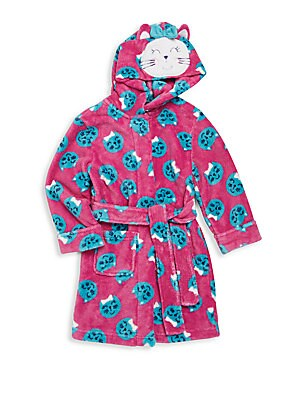 Girl's Emoji Cat Hooded Robe