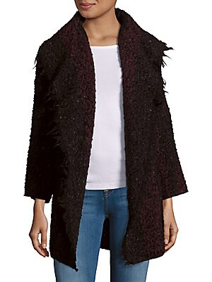Beverly Textured Open Front Jacket