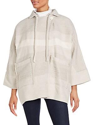 Blanky Cotton Blend Oversized Jacket