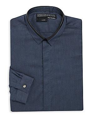Classic Fit Blue Cotton Shirt