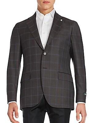 Windowpane Wool Sportcoat