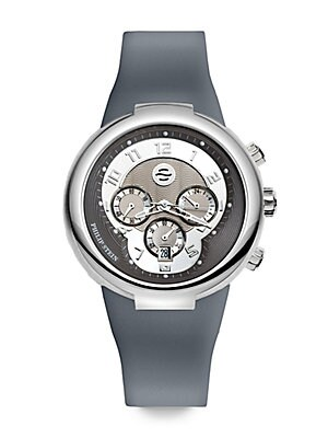 Active Stainless Steel & Silicone Watch/Grey