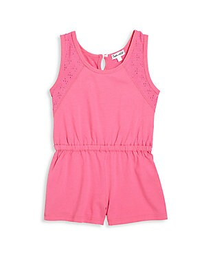 Toddler's & Little Girl's Jersey Eyelet Romper