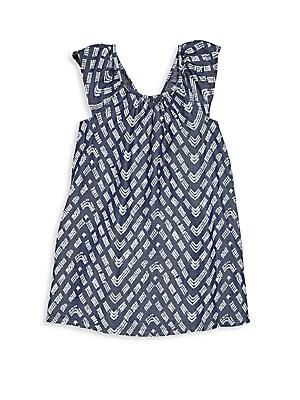Toddler's & Little Girl's Printed Denim Dress