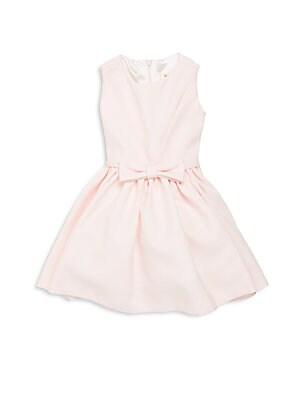 Little Girl's Solid Satin Dress