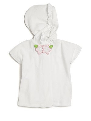 Baby's Floral French Terry Hooded Kimono Coverup