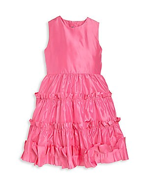 Toddler's, Little Girl's & Girl's Taffeta Multi-Ruffle Dress