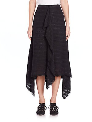 Cotton Tweed A-Line Skirt