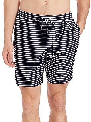 michael kors male stripe swim shorts