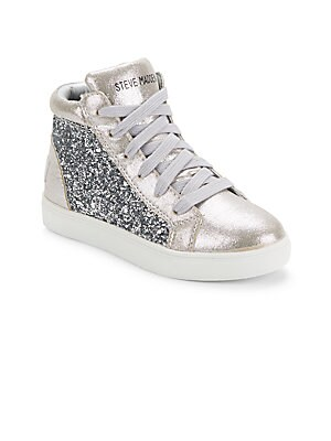 Girl's Sequined High-Top Sneakers