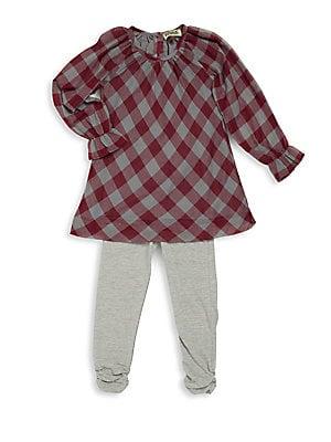Girl's Long Sleeve Plaid Tunic