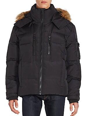 Faux Fur Trimmed Quilted Parka Jacket