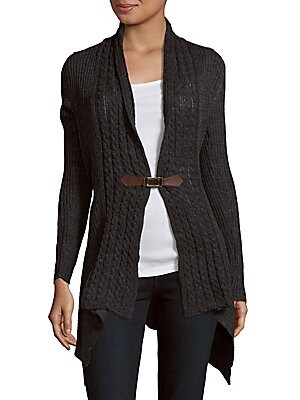 Cable Solid Cardigan