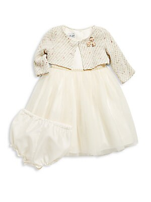 Baby's Dress & Bloomers Set