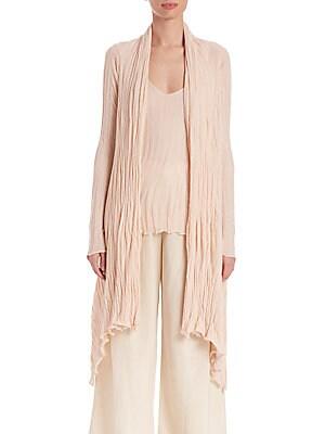Asymmetrical Cashmere & Silk Cardigan