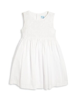 Little Girl's Organdy Smocked Dress