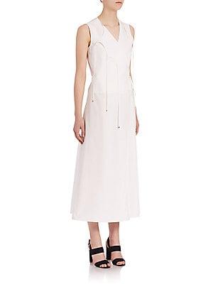 Tie-Front Wrap Dress
