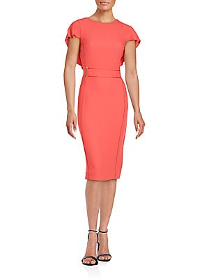 Solid Ruffled Dress