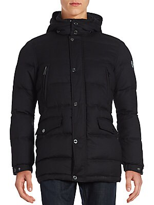 Wool Down Puffer Coat