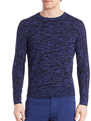 Merino Wool Animal Print Shirt