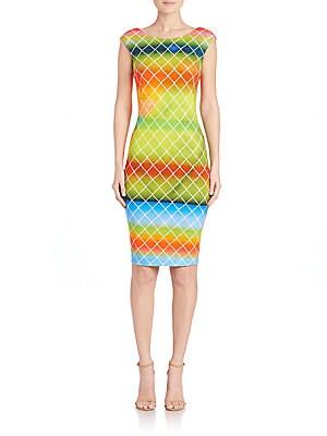 Net-Print Jersey Dress